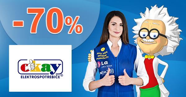 Akce na elektro až do -70% na Okay.cz