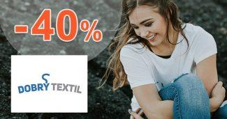 Akciový sortiment až -40% na DobryTextil.cz