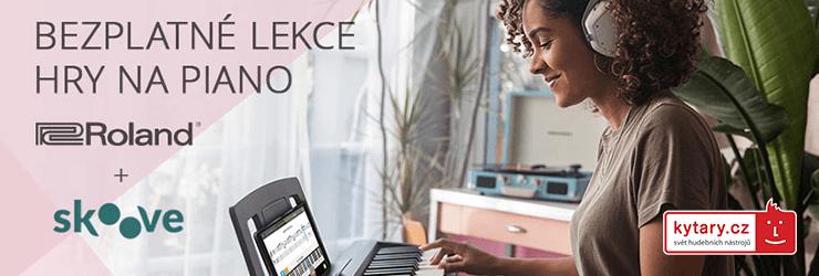 Bezplatné lekce hry na piano od Roland a Skoove