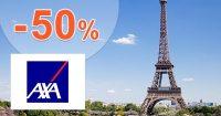 Celoroční pojištění -50% sleva na AXA-assistance.cz