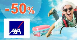 Pojištění zavazadel -50% sleva na AXA Assistance