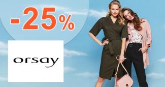 Sleva -25% na první nákup na Orsay.com