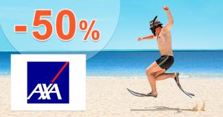Sleva -50% na cestovní pojištění AXA Assistance