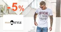 Slevový kód -5% na vše na ManStyle.cz