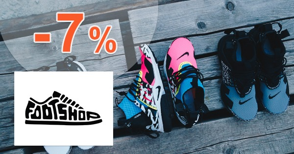 Slevový kód -7% na vše zboží na FootShop.cz