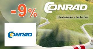 Slevový kupón -9% na nezlevněné zboží na Conrad.cz
