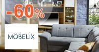 Slevy na nábytek až -60% na Mobelix.cz