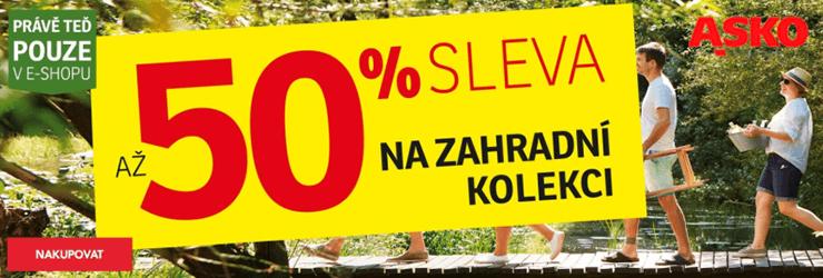 Sleva -50% na zahradní nábytek na ASKO